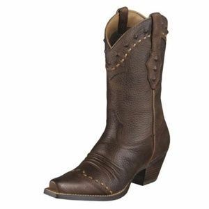 Ariat 10001368 Dixie Brown Leather Cowboy Boot